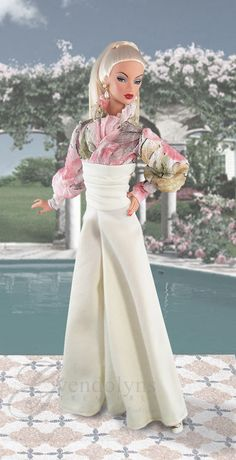 Your place to buy and sell all things handmade Palazzo Jumpsuit, Palazzo Pants, Plastic Girl, Pastel Pattern, Snap Backs, Cuff Sleeves, Barbie Clothes, Absolutely Stunning, Elegant Dresses