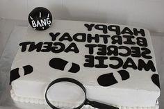 secret agent birthday cake