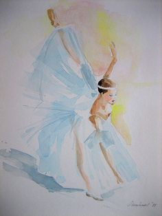 The colour is so bright that the balett dancers even seems lighter than normal; anelest WATERCOLOR