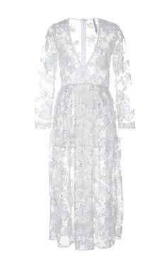 Eveline Embroidered Midi Dress by ALCOOLIQUE for Preorder on Moda Operandi