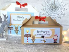 Christmas eve box personalised santa letter magic key reindeer personalised christmas eve gift box kraft brown present activity pack stocking spiritdancerdesigns Image collections