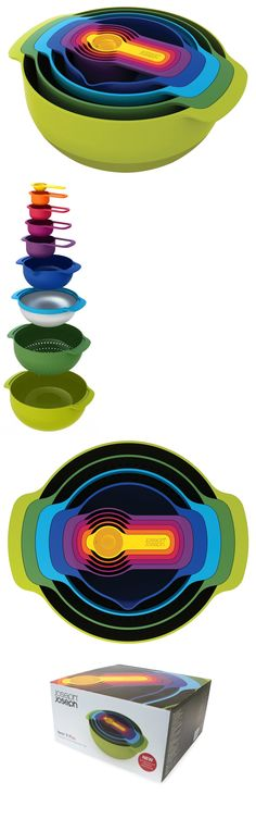 Mixing Bowls 20642: Food Prep Set Gift Nesting New Cook Family Nest 9 Compact Mixing Bowl Measuring -> BUY IT NOW ONLY: $68.13 on eBay!
