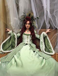 Pale green Renaissance inspired dress Halloween Costume