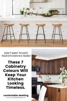 With all of the choices in cabinetry colours, it's easy to feel overwhelmed with all the choice, so in this blog post, I'm breaking down the 7 best cabinetry paint colors I turn to most to help you narrow in on one of the most important and impactful decorating decisions in your home. | best paint colors for your kitchen cabinets | classic cabinet paint colors | paint color choices for your kitchen | paint color kitchen trends | paint color inspiration | color trends | cabinet paint Best Paint Colors, Kitchen Paint Colors, Kitchen Trends, Kitchen Designs, Kitchen Ideas, Kitchen Cabinetry, Cabinets, Home Styles Exterior, Transitional Home Decor