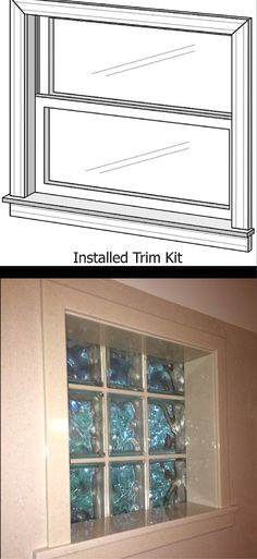 A solid surface window trim kit along with a glass block window make an excellent way to do a maintenance free shower or bathtub window. Learn more about solid surface walls and accessories here - http://innovatebuildingsolutions.com/products/bathrooms/solid-surface-vanity-countertops-accessories-shower-doors