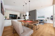 HAUS IN HIMBERG | AL Architekt Table, Furniture, Home Decor, New Construction, Detached House, Eten, Decoration Home, Room Decor, Tables