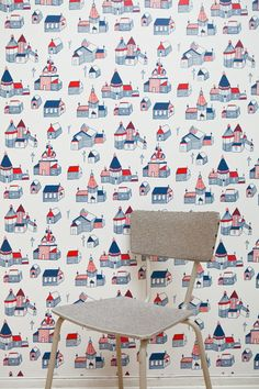 Wooden village wallpaper. Curated by Fine Little Day for Photowall. Picture by Elisabeth Dunker.