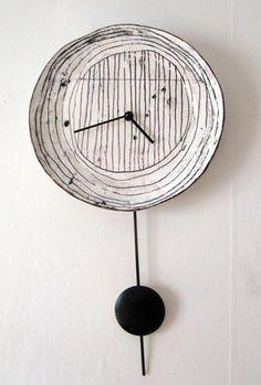 ceramic clock by Maria Kristofersson