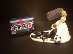GAMER Custom Console/Game VIDEO GAME FIFA Funny Wedding CAKE TOPPER Soccer Futbo in Home & Garden, Wedding Supplies, Wedding Cake Toppers   eBay