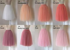 Adlut short tulle skirt middle lenght bridesmaid wedding