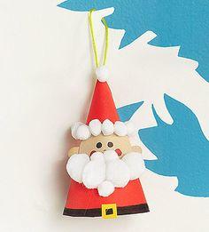 100 Days of Holidays: Santa Hat Ornament (via Parents.com)