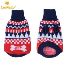 TAONMEISU PET Letter Pets Dog Cat Sweater Soft Cotton Winter Warm Pet Doggy Puppy Christmas Party Clothes Coat(China (Mainland))