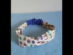 Faixinha para cabelo - YouTube Bow Hairband, Diy Headband, Machine Quilting Patterns, Sewing Patterns, Pantalon Thai, Sewing Crafts, Sewing Projects, Sewing Headbands, Diy Clothes Refashion