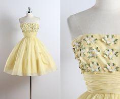 Buttercup . vintage 1950s dress . vintage by millstreetvintage
