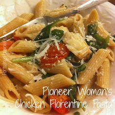 Pioneer Woman's Chicken Florentine Pasta