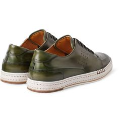 Berluti - Playtime Burnished Leather Sneakers.