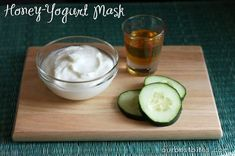 Honey and yogurt face mask