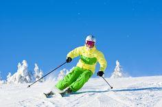 Downhill skiing in Ruka, Finnish Lapland