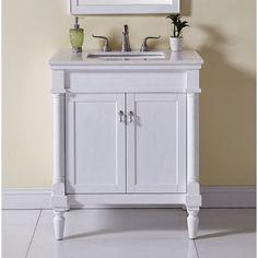 30 Inch Bathroom Vanity, Bathroom Vanity Cabinets, Bathroom Shelves, Bathroom Sets, Bathroom Fixtures, Small Bathroom, Bathroom Vanities, Bathrooms, Downstairs Bathroom
