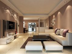 young modern living room
