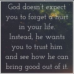 All things work together for good even the truths in our life if we are willing to trust them to God.