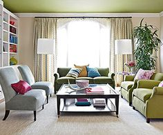 A color ceiling instead of walls.  Selecting Ceiling Color