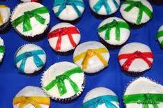 Karate cuppie cakes! For Hayden's Karate dessert!