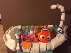 My Finding Nemo Diaper Tub for a baby girl