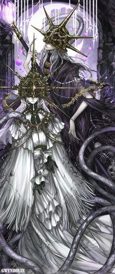 Dark Souls,фэндомы,Dark Souls 3,DS art,Devourer of Gods Aldrich,DSIII персонажи,Gwyndolin,DS персонажи