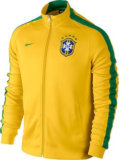 Celebrate a world-renowned squad with this NIKE® men's Brasil N98 authentic International full-zip track jacket!