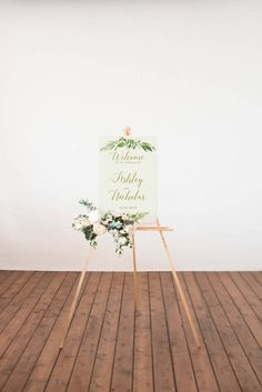 Printable Custom Wedding Sign, Outdoor Wedding Poster, Greenery wedding, Green and gold wedding,  Printable wedding design, Botanical