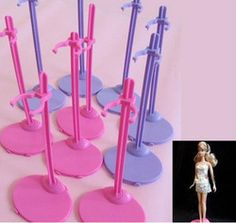 Lot 80 Pieces Contemporary Barbie Doll Body Stand Fixed Stents Holder