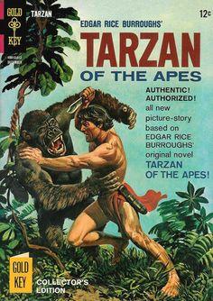 Comic Book Covers, Comic Books, Tarzan Movie, Tarzan Of The Apes, Bd Comics, Picture Story, Fantasy Illustration, Vintage Comics, Historical Fiction