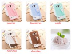 Samsung Galaxy J1 3d Cartoon Cute ice cream case for Girls