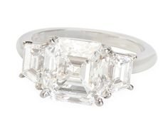 Incredible 4.01 ct Asscher Diamond Ring - The Three Graces