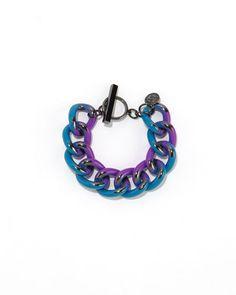 BCBGeneration 'Grafitti Enamel' Chain Link Toggle Bracelet