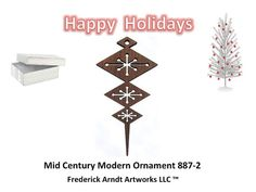 8872 Mid Century Modern Ornament by FredArndtArtworks on Etsy, $14.95