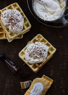 French Waffles with Cointreau Cream