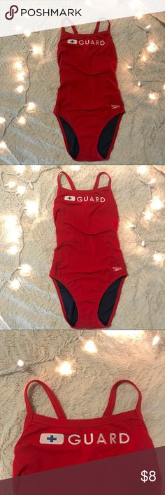 6f84a62b185 Lifeguard swimsuit Red Speedo lifeguard swimsuit. Worn for 2 days at camp.  Perfect condition