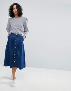 BOSS Casual 70's Denim Midi Skirt