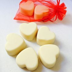 #heart-shaped soaps because Valentines Day is around the corner!