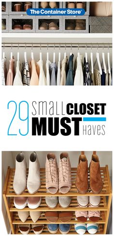 Small closet organization made easy! Check out these 29 small closet organizers every closet must have. Kid Closet, Closet Bedroom, Master Closet, Unique Shelves, Small Closet Organization, Diy Wardrobe, Look Boho, Closet System, My New Room