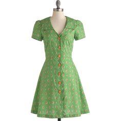 Bea & Dot Vintage Inspired Mid-length Short Sleeves Shirt Dress Floral... ($70) ❤ liked on Polyvore featuring plus size fashion, plus size clothing, plus size dresses, dresses, modcloth, green, vintage, apparel, fashion dress and floral wrap dress