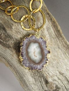Amethyst Druzy Drusy Stalactite Statement by julianneblumlo