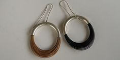 Black, Gold, or Silver Wire Earrings