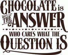 View Design: 'chocolate' vinyl quote