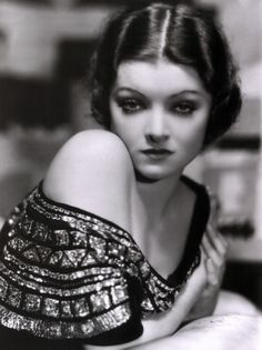 Silent film star Myrna Loy.  One of the most beautiful people I have ever seen.
