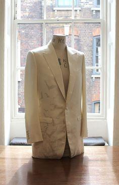 Tilda Swintons bat print bespoke suit