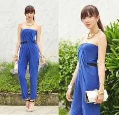 COBALT BLUE Now this is a sexy jumpsuit perfect for all the parties you'll be attending. It's the kind of outfit you should wear when you're not entirely sure if the attire for the party is dressy or casual, because it can go both ways. Just wear a blazer over it during the day (or not, if you're not going to work or anything) and then reveal its glory come night time! Look at that draping. Beautiful, right? Simple but striking–there's a reason why it'll always be my number one choice.