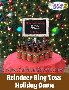 diy christmas carnival type game reindeer ring toss http